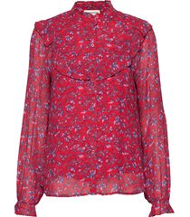maria blouse lange mouwen rood custommade