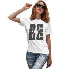 camiseta basica my t-shirt acdc branco