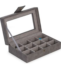 clear-top leatherette ring & cufflink box