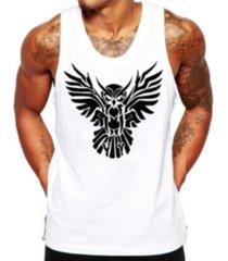 camiseta regata criativa urbana coruja tribal