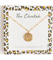 the cheetah coin pendant necklace - leopard