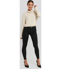 trendyol normal waist jegging jeans - black