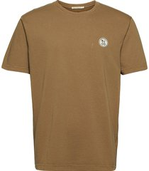 uno njco circle t-shirts short-sleeved brun nudie jeans