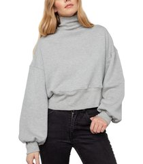 women's rails blaire turtleneck pullover, size x-small - grey