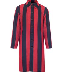 płaszcz stripes navy coat
