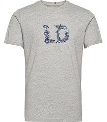 fiori t-shirt t-shirts short-sleeved grå les deux