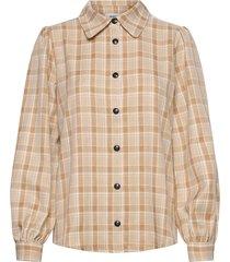 giana shirt långärmad skjorta beige modström