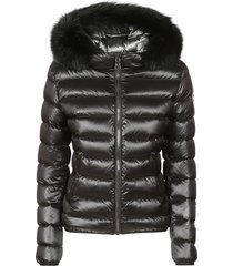 colmar fur trim hood padded jacket