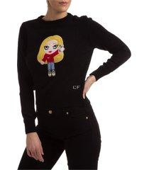 maglione maglia donna girocollo cfmascotte