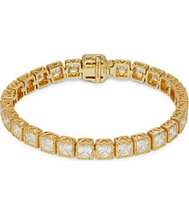 goldplated sterling silver & cubic zirconia tennis bracelet