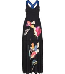 vest lisboa maxi dress galajurk zwart desigual