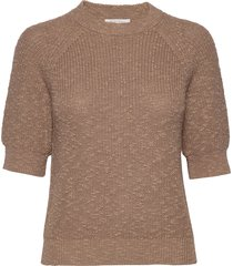 delarapw pu t-shirts & tops knitted t-shirts/tops bruin part two