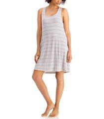 alfani ultra-soft printed sleeveless nightgown