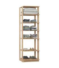 closet estante com 5 prateleiras carvalho mel lilies móveis