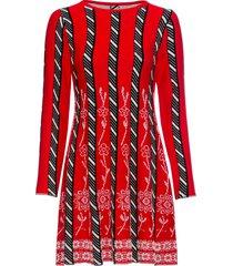 abito in maglia fantasia (rosso) - bodyflirt boutique