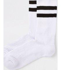 river island mens white navy stripe tube socks