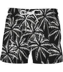 allover palm tree print beach shorts