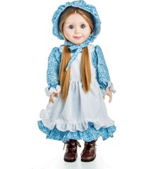 the queen's treasures little house on the prairie calico dress with bonnet, apron, and pantaloons