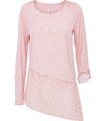 maglia con fondo asimmetrico (rosa) - rainbow
