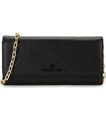 juniper dollaro pebbled-leather wallet-on-chain