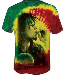 zion rootswear bob marley rasta smoke hip hop music tie dye mens shirt bm1780