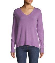 v-neck wool & cashmere blend sweater