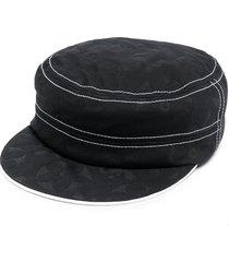 10 corso como contrast-trim cap - black