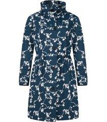 happyrainydays regenjas coat brenda blossom blue off white-m