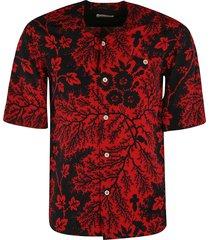 alexander mcqueen tropical print short-sleeve shirt