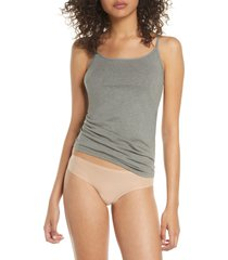 women's felina organic cotton camisole, size medium - grey