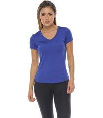 camiseta básica, color azul rey para mujer