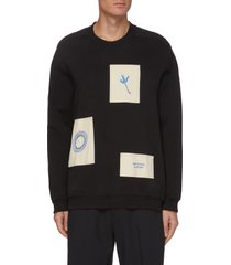 embroidered patches sweatshirt