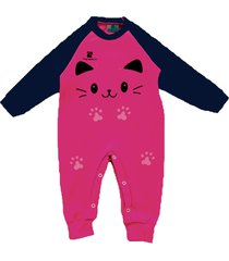macacã£o  manabana roupas de bebe top recem nascido enxoval batizado pink - pink/rosa - menina - algodã£o - dafiti
