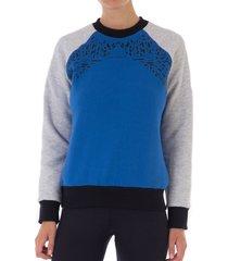 buzo merlin balance sport hoody  azul francia con gris danseur