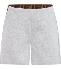 fendi gray shorts for girl with double ff