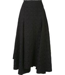 comme des garçons logo print full skirt - black