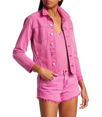 l'agence women's janelle slim raw jacket - blossom - size l