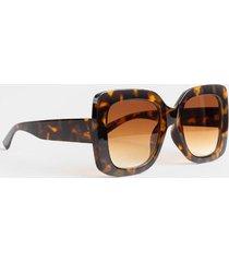 olivia chunky square sunglasses - tortoise