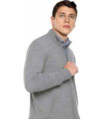 chaqueta delgada bolsillos - gha230-gris claro