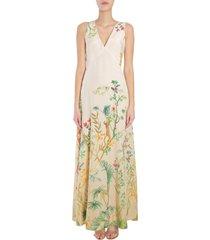 alberta ferretti long sleeveless dress