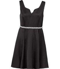 abito con perle e strass (nero) - bodyflirt