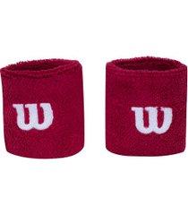 munhequeira wilson wrb80 com 2 unidades - adulto - vermelho/branco