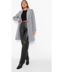 getailleerde nepwollen jas, light grey