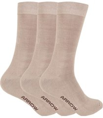 calcetines tripack beige arrow