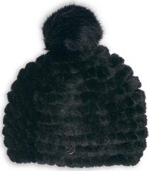 calvin klein faux fur weave hat