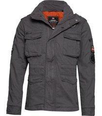 hero rookie military jacket dun jack grijs superdry
