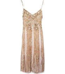 blumarine slip dress sequined embroidery