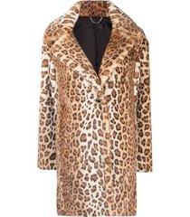 rag & bone leopard print faux shearling coat - brown