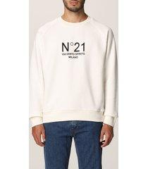 n.21 n° 21 sweatshirt n ° 21 cotton sweatshirt with logo