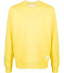 department 5 long-sleeve fitted sweatshirt - yellow